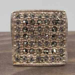 Jewelry - Size 6.75 Sterling Silver Crystal & Marcasite Ring